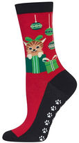 Hot Sox Cats and Ornaments Socks