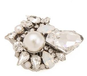 Erickson Beamon White Wedding Crystal Earrings