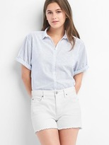 Gap Stripe roll cuff shirt