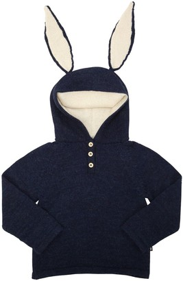 Oeuf Bunny Hooded Baby Alpaca Knit Sweater