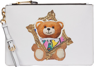 Moschino Frame Teddy Bear Clutch Bag