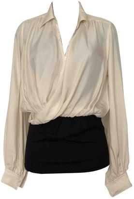 Jean Paul Gaultier White Silk Top for Women Vintage
