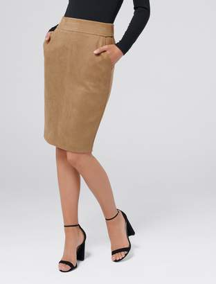 Ever New Tammy Suedette Pencil Skirt