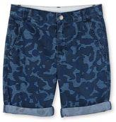 Stella McCartney blue camo print lucas shorts