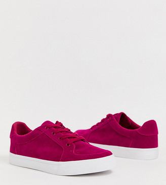 ASOS DESIGN Wide Fit Value sneakers in raspberry pink