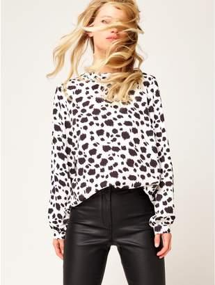 M&Co Dalmatian print blouse
