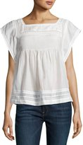 Joie Marleno Pleated-Bib Top, White