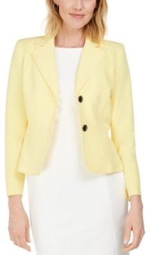 Kasper Crepe Two-Button Blazer
