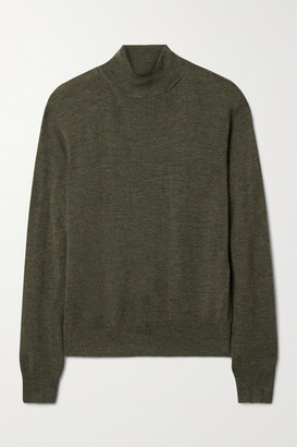 Nili Lotan Bella Cashmere Turtleneck Sweater - Army green