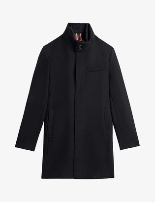 Ted Baker Funnel-neck wool-blend coat