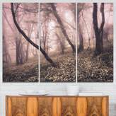 Design Art Designart 3 Piece Vintage Autumn Landscape Modern Photo Canvas Multipanel Art Print