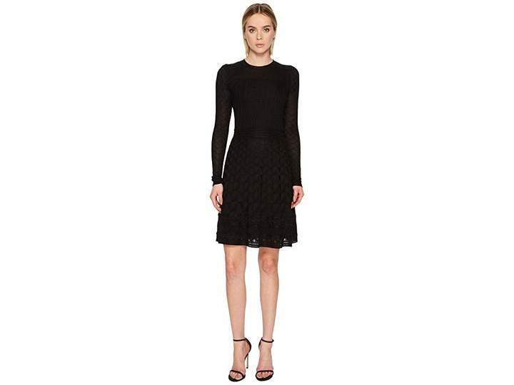 M Missoni Solid Knit Long Sleeve Dress Women's Dress