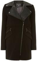 Dorothy Perkins Black long biker jacket