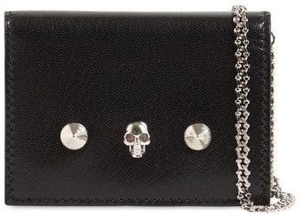 Alexander McQueen Leather Wallet W/chain
