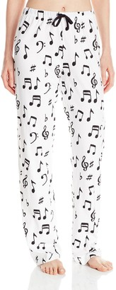 Hatley Little Blue House By Women's LBH Pajama Pants - Music Notes