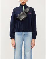 Tommy Jeans Logo-print funnel-neck fleece jacket