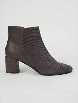 George Grey Cord Panel Ankle Boots