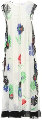 RED Valentino Floral-printed crepe midi dress