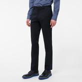 Paul Smith Men's Slim-Fit Dark Navy Stretch-Cotton Twill Trousers