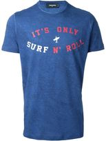 DSQUARED2 surf n'roll print T-shirt - men - Cotton/Linen/Flax - XS