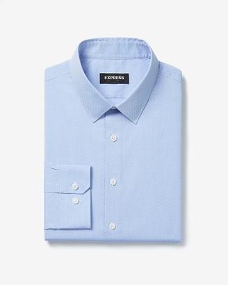 Express Extra Slim Blue Jacquard Cotton Stretch 1Mx Dress Shirt