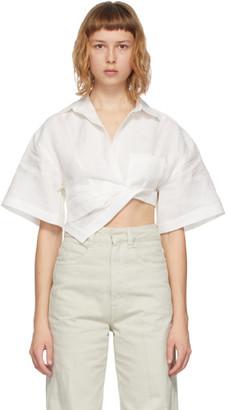 Jacquemus White La Chemise Capri Short Sleeve Shirt