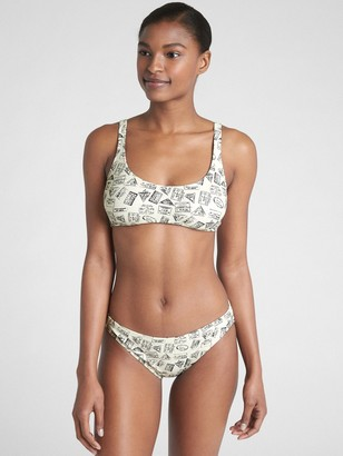 Gap Adjustable Halter Print Bikini Top