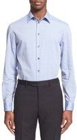 Armani Collezioni Trim Fit Micro Diamond Dress Shirt
