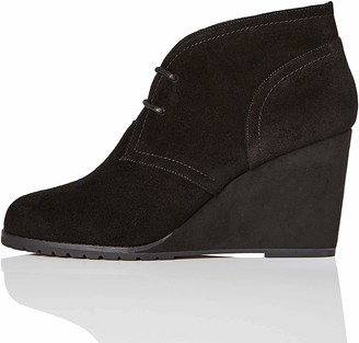 Find. Amazon Brand Lace Up Wedge Bootie Ankle Boots