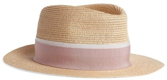 Maison Michel Andre Straw Fedora Hat