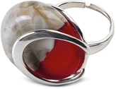 Antica Murrina Veneziana Oriental - Red Murano Glass Ring w/Crackling Effect