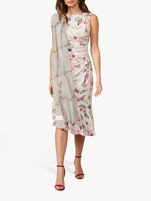 Phase Eight Dulcie Floral Print Midi Dress, Multi
