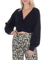 Paper Label Departures Selena Cotton-Blend Cropped Cardigan