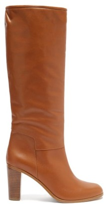 A.P.C. Marion Knee-high Leather Boots - Tan