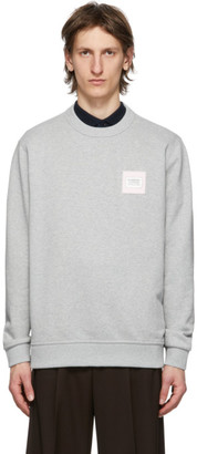 Burberry Grey Logo Applique Kently Sweatshirt