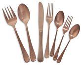 Sur La Table Modern Copper Flatware, 22-Piece Set