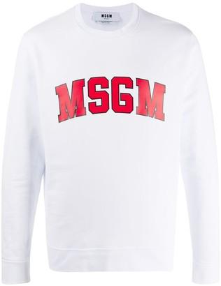 MSGM College Logo-Print Sweatshirt