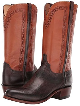 Lucchese Stanley Round Toe (Antique Chocolate) Cowboy Boots
