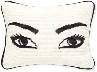 Jonathan Adler Eyes Needlepoint Throw Pillow
