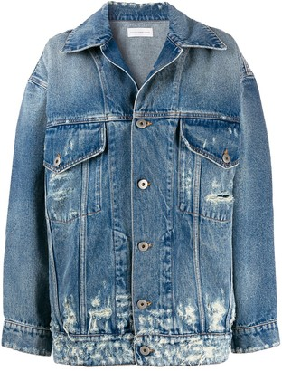 Faith Connexion distressed longline denim jacket