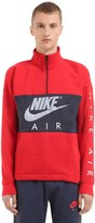 Nike Half Zip Cotton Blend Sweatshirt