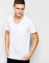 G-star T-shirt Mazuren V-neck One Pocket In White