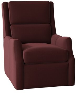 Bradington-Young Thomas Genuine Leather Power Recliner Body Fabric: Outsider Cloud, Cushion Fill: Spring Down, Reclining Type: Power Button with Batte