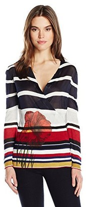 Desigual Women's Bego Flat Knitted Thin Gauge Pullover
