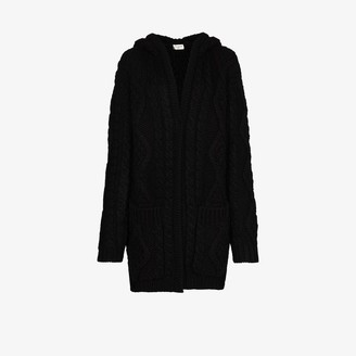Saint Laurent Chunky Cable Knit Cardigan