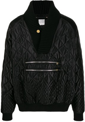 Paul Smith quilted V-neck jumper