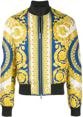 Versace Baroque printed bomber jacket