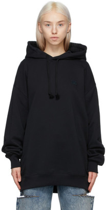 Acne Studios Black Oversized Patch Hoodie
