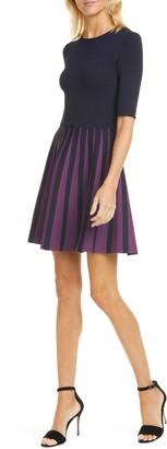 Ted Baker Salyee Short Sleeve Knit Skater Dress