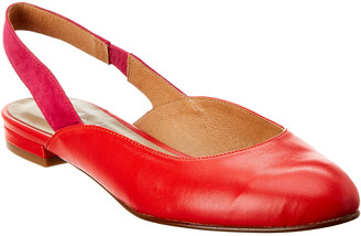 French Sole Madrid Leather & Suede Flat
